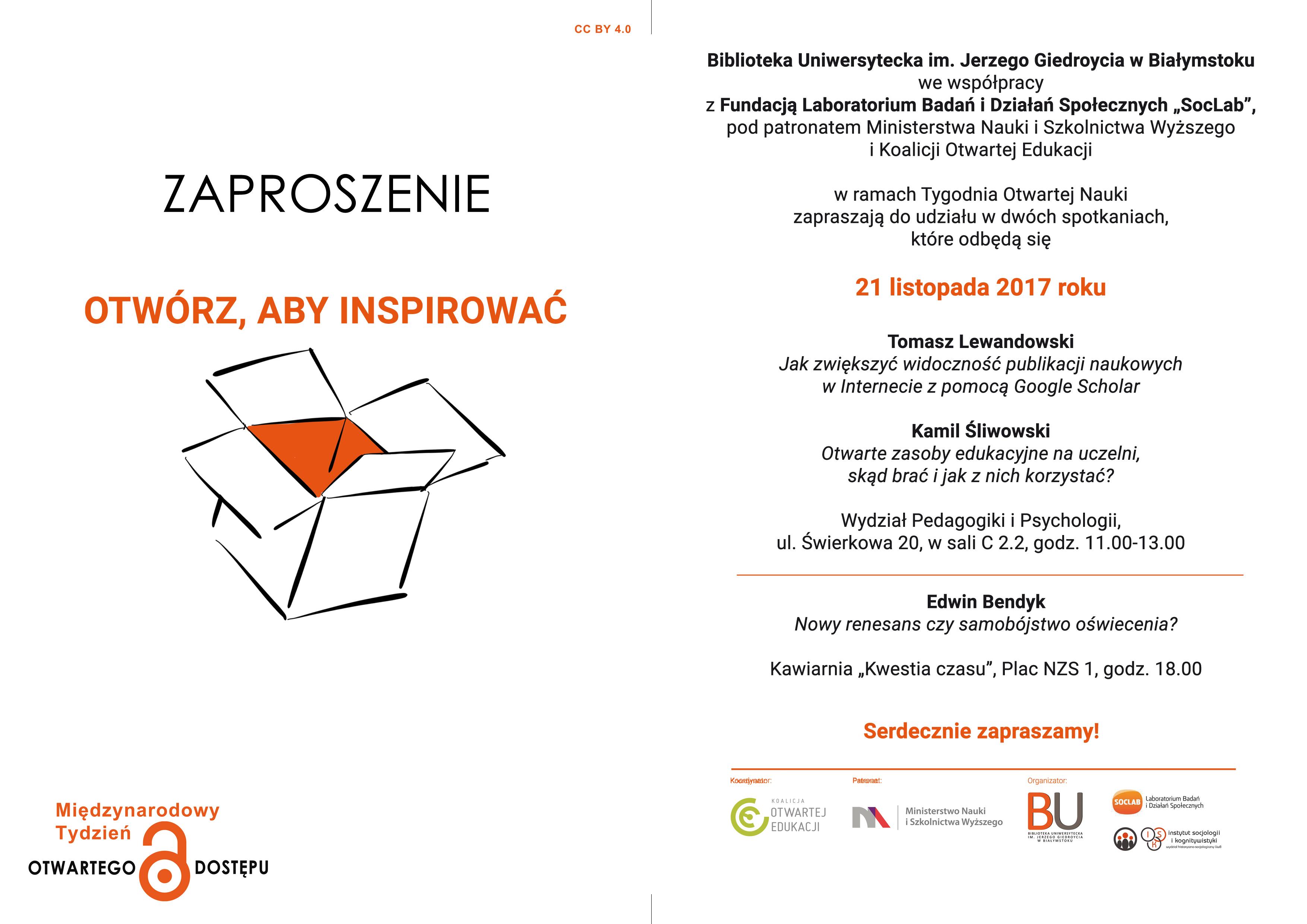 Tydzień Otwartej Nauki Na Uniwersytecie W Białymstoku 2017